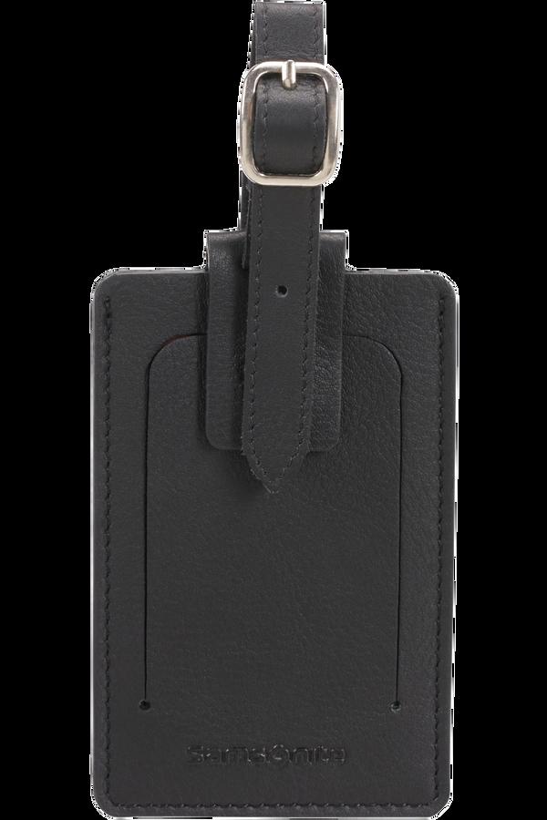 Samsonite Global Ta ID Leather Luggage Tag Černá