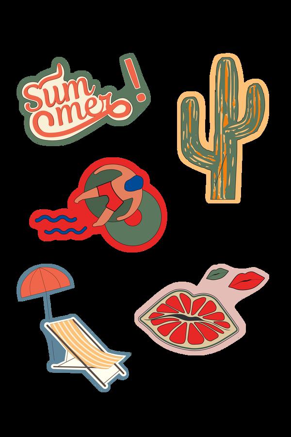 Samsonite Travel Accessories Sticker Set (5pcs) Holiday