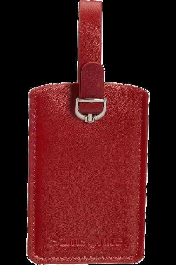Samsonite Global Ta Rectangle Luggage Tag x2 Červená