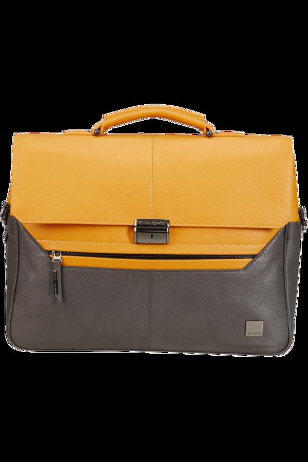 Samsonite Senzil Briefcase 2 Gus 15.6'  Grey/Yellow