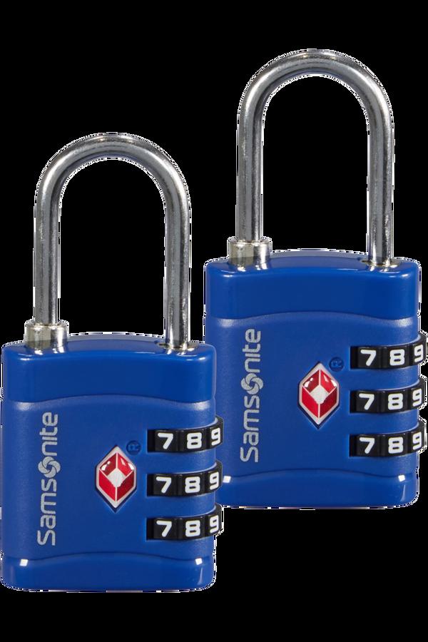 Samsonite Global Ta Combilock 3 dial TSA x2 Půlnoční modrá