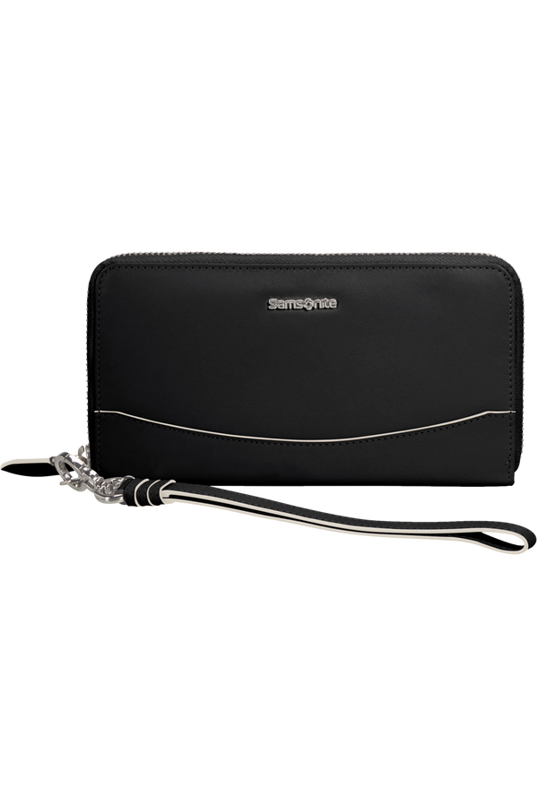 Samsonite Leathy Slg 319 - L Zip Around L  Černá