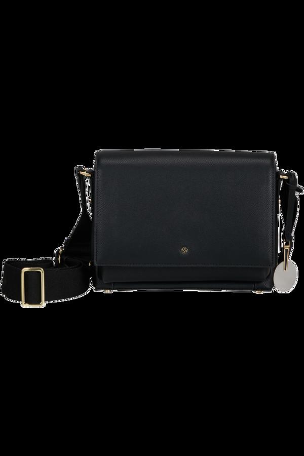 Samsonite Roundtheclock Shoulder Bag + Flap  Černá