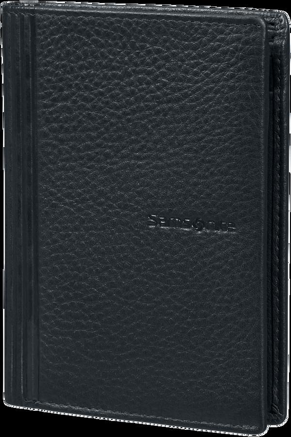 Samsonite Double Leather Slg 137 - W 6CC+HFL+2W+2C  Černá
