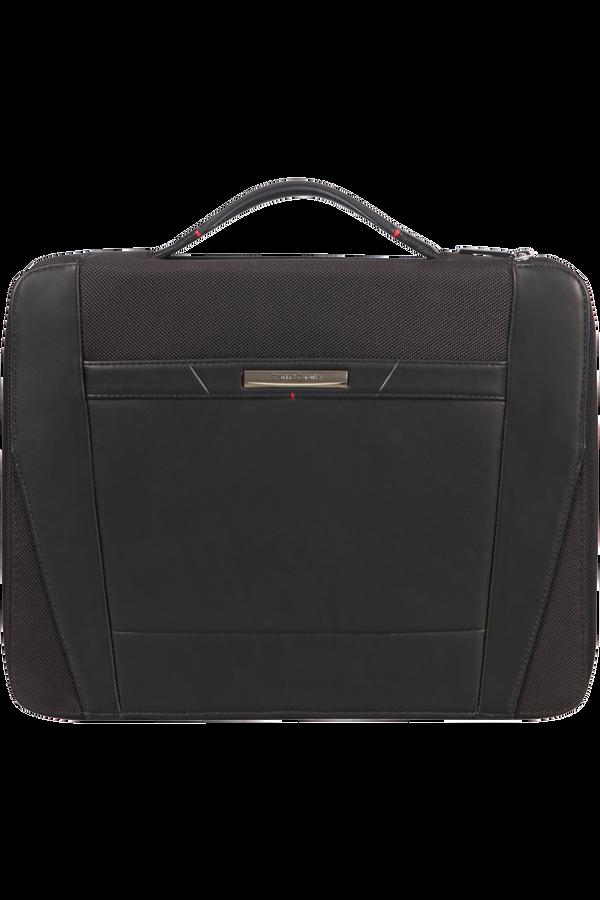 Samsonite Stationery Pro-Dlx 5 Zip Folder A4 Top H+Det B  Black